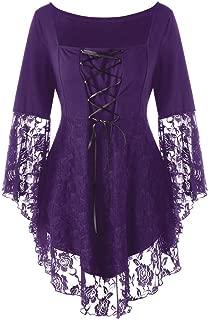 Auimank Women's Fashion Dark in Love Ruffle Sleeves Off Shoulder Gothic Midi Dress