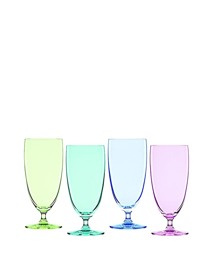 怖がらせるフルーティーデマンドMarquis by Waterford Vintage Ombre Iced Beverage Set (Set of 4), Multicolor [並行輸入品]