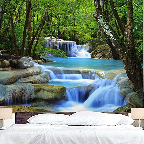 """BJYHIYH Wall Tapestry Extra Large Waterfall Nature Tapestry Tree Tapestries for Bedroom Living Room Dorm Decor (90.6""""×59.1"""")"""