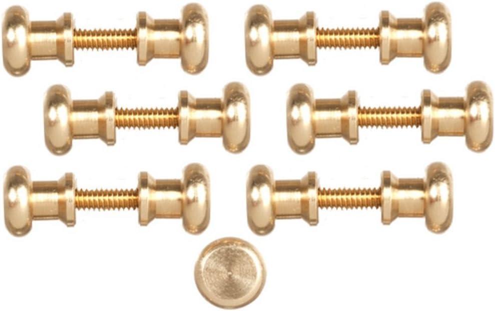 Melody Jane Dolls Houses House Miniature Door Furniture 12 Brass Knobs Handles 6 Screw Threads
