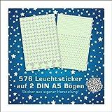 Folien-zentrum 576 Stickers muraux lumineux pour chambre d'enfant Motif étoiles
