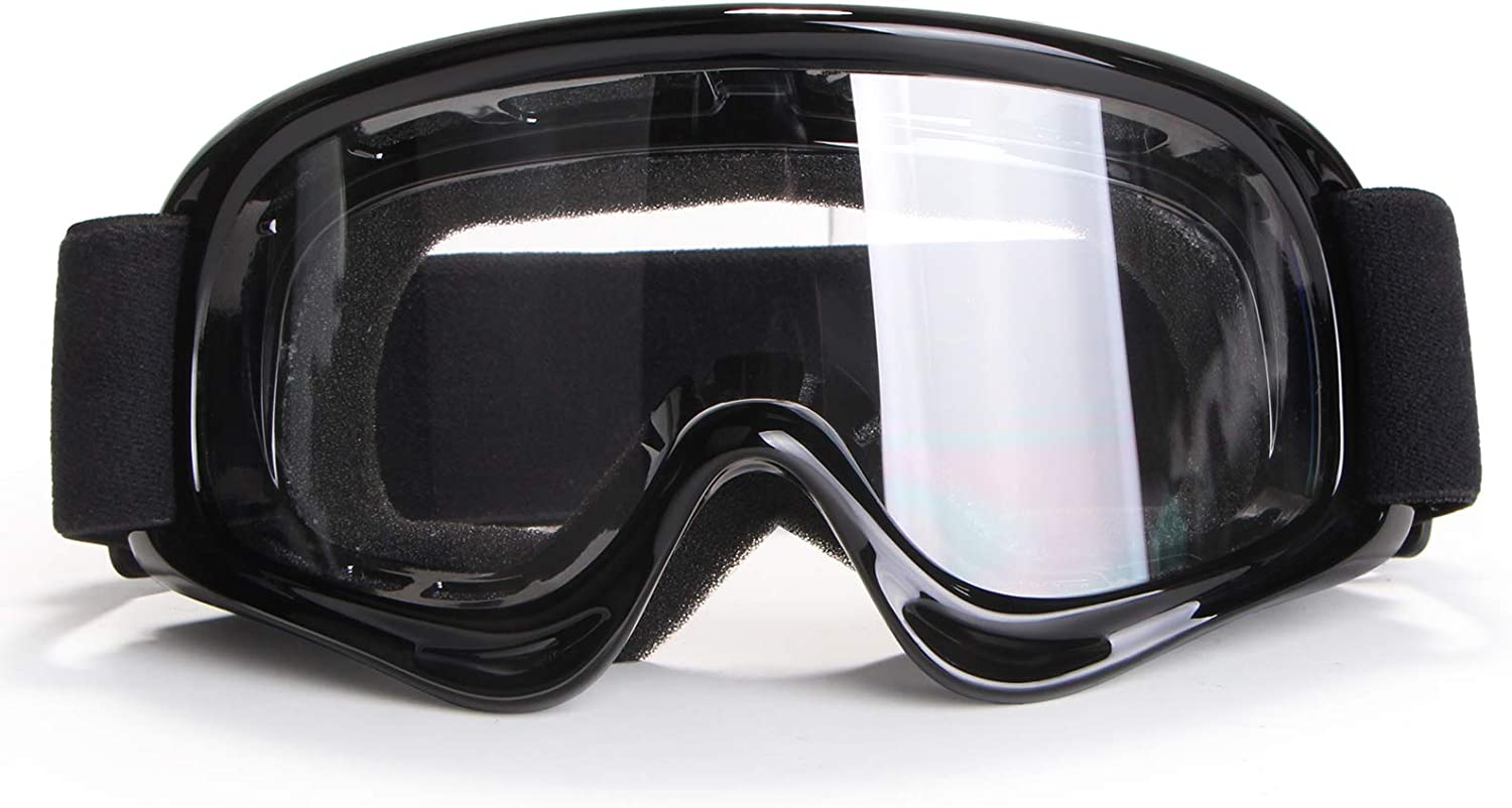 Motorcycle Goggles 4-FQ Dirt Bike Goggle Motocross Goggles Windproof Dustproof Riding Goggles Motocross Glasses UV Protection for Youth Teen Kids Child