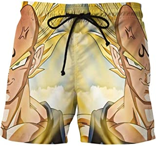 Anime Dragon Ball Z Goku Trajes de Baño Shorts de Playa Hombre 3D Imprimir Pantalones Corto Beach Board Shorts Swim Trunks