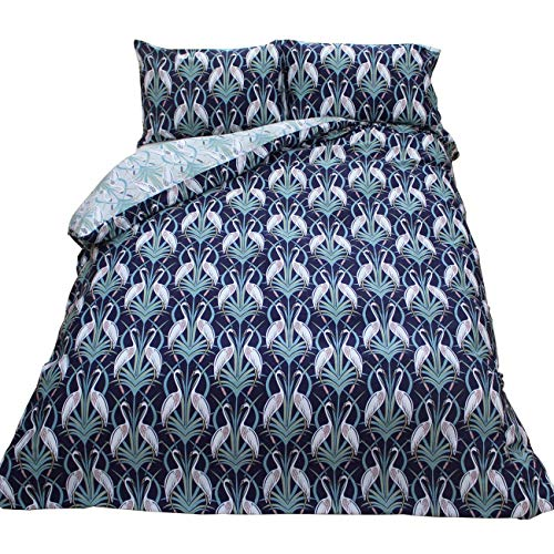 Angel Strawbridge The Chateau Deco Heron Super King Duvet Cover Set Grey/Navy