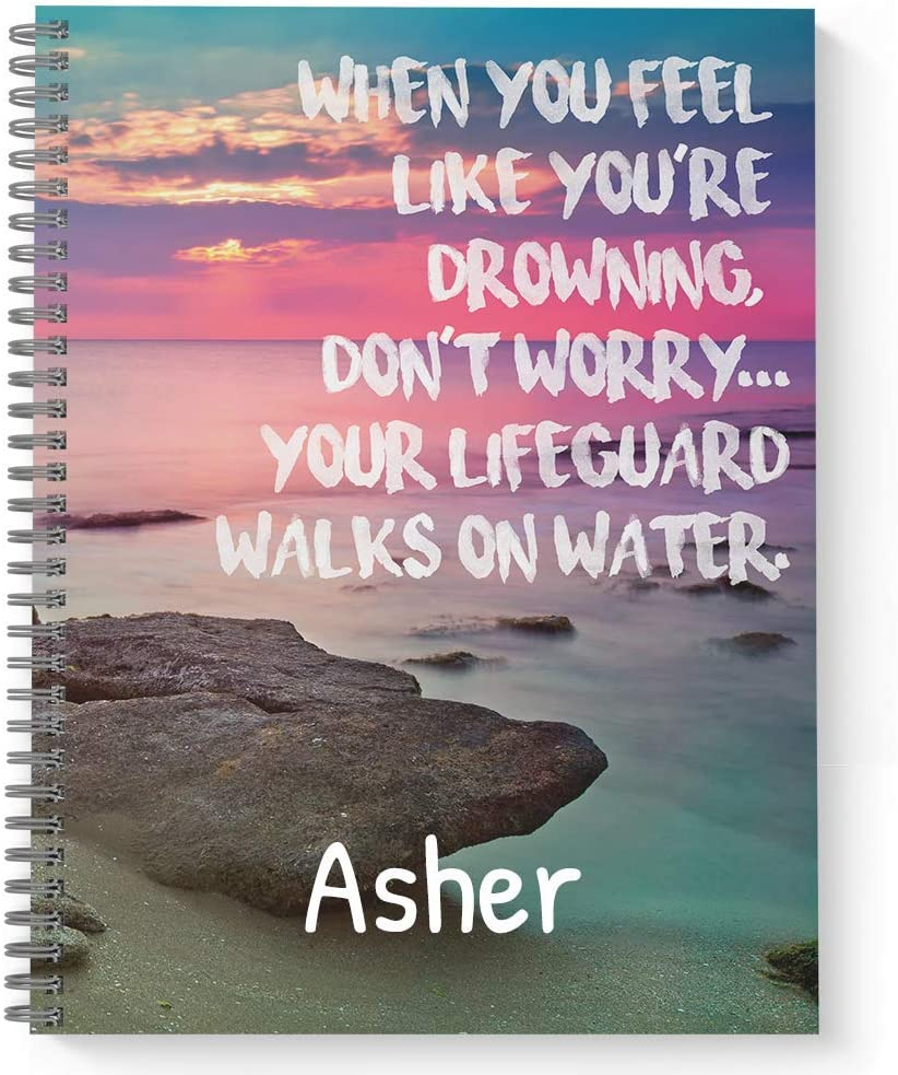Dealing full price reduction Lifeguard Personalized Colorado Springs Mall Religious Notebook Journal Sof Laminated