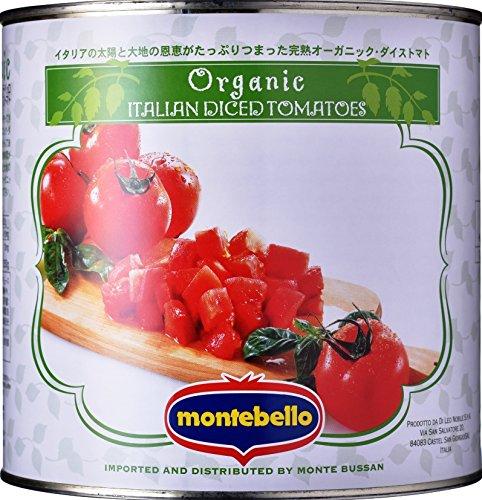 モンテベッ 有機 ダイストマト 缶 2.55Kg [0451]