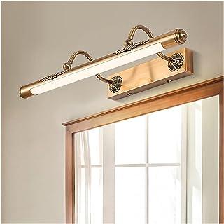 Simple 52/60/80cm Mirror Front Lights Creative American Iron Home Energy-Saving Moisture-Proof Anti-Rust Dressing Table Ma...