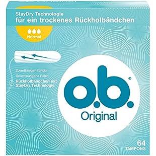 O.B. Original Normal Tampons 64 Pack:Btc4you