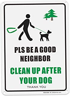 RESERVED PARKING Leash and Clean Up After Your Dog , pick up after your dog signno dog poop signs made of aluminum alloy y...