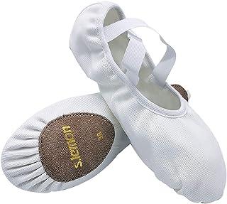 comprar comparacion S.lemon Elástico Lona Zapatillas de Ballet Zapatos de Baile para Niños Niñas Mujeres Hombres
