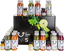 DrDetoxBox 5 Day Detox Juice Cleanse – 45 Freshly Cold Pressed Juices for Fasting Weight Loss or Metabolic Diet incl Manual Estimated Price : £ 149,95