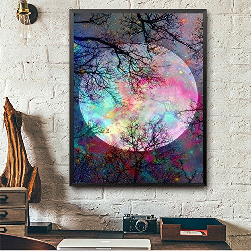 Artículos de decoración para el hogar, pintura al óleo por número, 40,6 x 50,8 cm, cuadro para pared LivingDiamond bordado, multicolor Ramadan