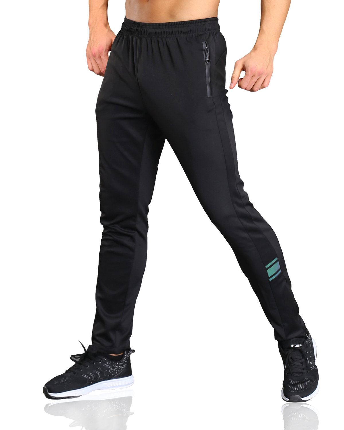X-Future Mens Basic Hip-hop Drawstring Elastic Waist Jogger Sport Long Pants