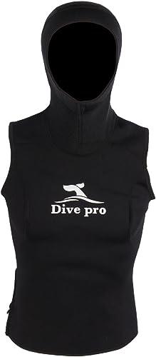 Dive Zone divepro Vest Gilet en néoprène 3mm avec tête Cagoule pour Femme