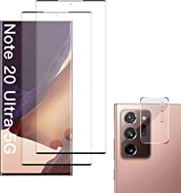 Screen Protector for Samsung Galaxy Note 20 Ultra + Camera Lens Protector, [2 Pack] HD Tempered Glass Film for Samsung Gal...