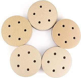 5 Inch 5 Holes Sanding Discs, 100PCS 60 80 120 150 220 Grit Sandpaper Assortment - LotFancy Hook and Loop Orbit Sander Sand Paper