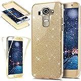 Funda protectora de silicona TPU para LG G4Ikasus, protector para teléfono móvil, carcasa de protección total, color cristal transparente brillante, resistente a los impactos. dorado