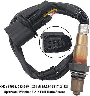 0258007057 17014 Wideband AFR Upstream Oxygen Sensor 1 LSU 4.2 5 Wires for Audi TT/TT Quattro 1.8L, for Volkswagen Beetle 1.8L EuroVan 2.8L V6 Golf 1.8L Golf 2.8L V6 Jetta 1.8L 2.8L 0258007090