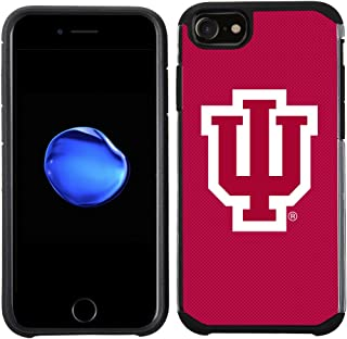 Prime Brands Group Textured Team Color Cell Phone Case for Apple iPhone 8/7/6S/6 - NCAA Licensed Indiana University Hoosiers