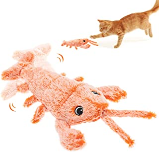 SCENEREAL Interactive Cat Kicker Toy Automatic Moving Cat Plush Toy for Biting Chewing Kicking Funny Wagging Toys for Cat...