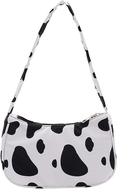 Women Cow Print Brand new Shoulder Bag Purse Cash special price Underarm Handbag Clutch Satch