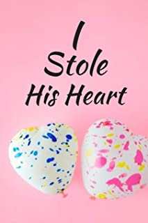 I Stole His Heart: WEDDING JOURNAL FOR BRIDE TO BE - Great as Engagment Gift - Compile all Memories From Engagement to The...