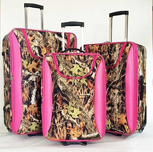 Pink Camo Luggage Set | Luggage And Suitcases