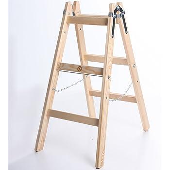 Color : Style B HYX Klappbarer Trittleiter 3-stufige Holzleiter Innenverdickung rutschfeste Leitern Dekoration Kleine Multifunktionstreppe Klappleiter aus massivem Holz