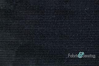 Black 16 Wale Corduroy Fabric 4 Way Stretch Cotton Spandex Lycra 7 Oz 58-60