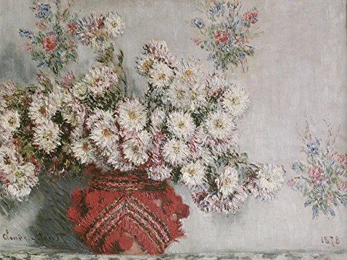 Artland Alte Meister Premium Wandbild Claude Monet Bilder Poster 30 x 40 cm Chrysanthemen Kunstdruck Wandposter Impressionismus R0NI