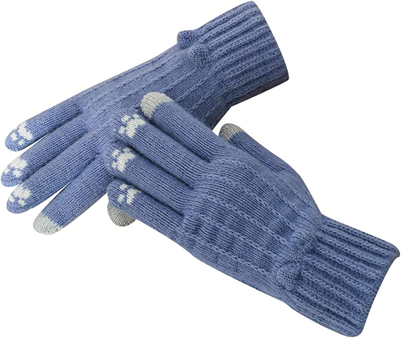 GRASWE Womens Cute Gloves Warm Texting Gloves Touch Screen Gloves Winter Knit Gloves