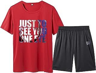 Men's Short Sleeve Jumpsuit Overalls Sports Sets Summer Leisure Fashion Printing Plus Size Shorts