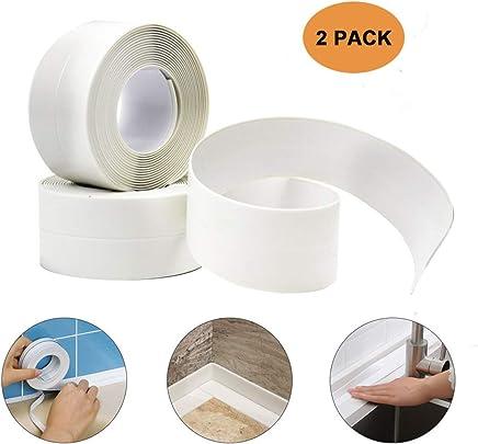 Tub and Wall Sealing Caulk Strip Wall and Corner Self Adhesive Peel and Caulk Strip Fixture