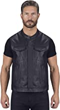 Viking Cycle Gardar Motorcycle Leather Vest for Men