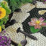 Red de cubierta de estanque de peces, malla anti-hojas de malla de estanque de gatos de aves, redes de protección de estanque de protección, red de seguridad para piscina de estanque de jardín
