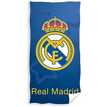 Real Madrid Toalla de Playa de Microfibra Escudo 70 x 140 cm: Amazon.es: Hogar