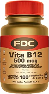 Vitamina B12 500 mg para Aumentar la Energía y Estimular el Sistema Inmunológico. 100 Cápsulas