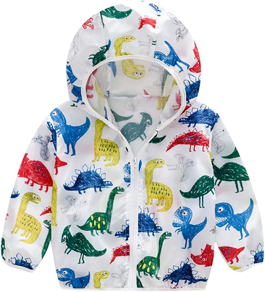 Beppter Toddler Sun Protective Hooded Zip Max Popular products 71% OFF Rainc Jacket Windproof