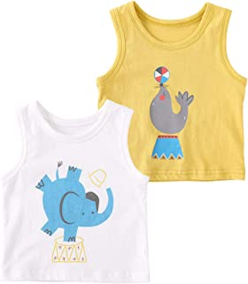 pureborn 2 Pack Baby Toddler Boys Girls Graphic Tees Tops T-Shirt Summer Outfit