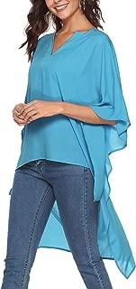 SHERONV Women's High Low Loose Tunic Tops Oversized V Neck Blouse Cover Ups
