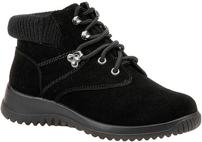 Wanderlust Frauen Boston Geschlossener Zeh Leder Fashion Stiefel Schwarz Schwarz Groesse 7.5 US 38.5 EU  meistverkauft