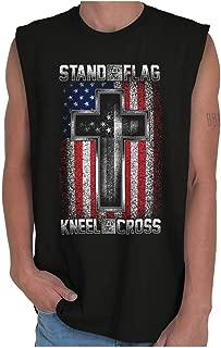 Stand Flag Kneel Cross Christian American Sleeveless T Shirt