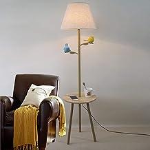 lampada da terra in legno for soggiorno Camera da letto Ricerca Illuminazione a risparmio energe paralume in tessuto Lampade da terra Lampada a Piantana Lampada da terra principessa in stile europeo