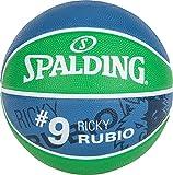 Spalding Ball NBA Player Ricky Rubio SZ.5 (83-403Z), Adultos Unisex, Grün/Marine, 5