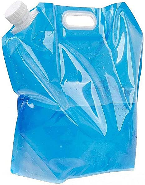 5L BPA Free Collapsible Camping Emergency Water Storage Container Bag@#l 0MJ/&@