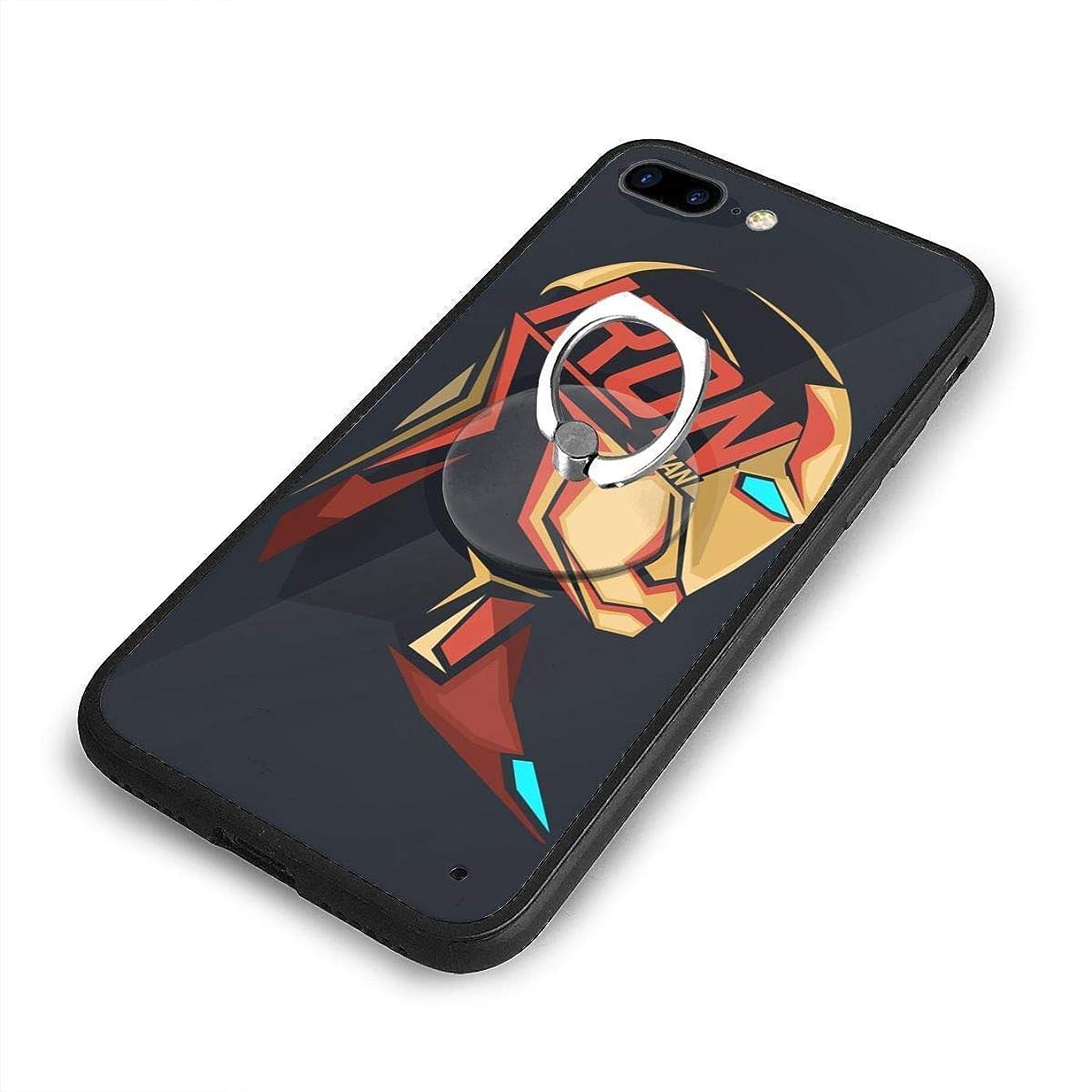 投獄軽量昆虫アイアンマンiPhone 7/8 Plusケースリングブラケット 携帯カバー 創意デザイン軽量 傷つけ防止 360°回転ブラケット 携帯ケース PC 衝撃防止 全面保護