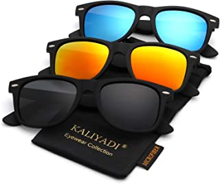 Polarized Sunglasses for Men and Women | Matte Finish Sun glasses | Color Mirror Lens | 100% UV Blocking