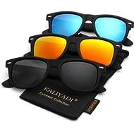 Unisex Polarized Sunglasses Stylish Sun Glasses for Men and Women Color Mirror Lens Multi Pack...