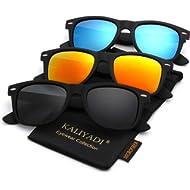 Unisex Polarized Sunglasses Stylish Sun Glasses for Men and Women | Color Mirror Lens | Multi...