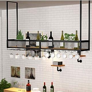 Ybzx Distributeur de vin de Plafond Casiers à vin de Plafond Porte-Bouteille de vin Vintage Le Fer de Style Simple Peut co...